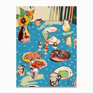 Autumn Breakfast Canvas Print