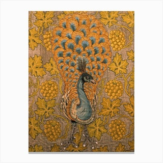Peacock And Vine Detail, William Morris And Philip Webb Canvas Print