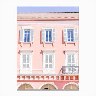 Candy Pink Windows Canvas Print