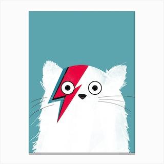 Cat Bowie   White Version Canvas Print