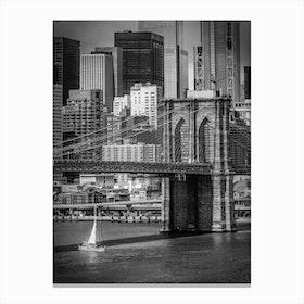 Brooklyn Bridge & Lower Manhattan Canvas Print