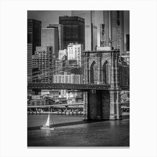 Brooklyn Bridge & Lower Manhattan Canvas Print