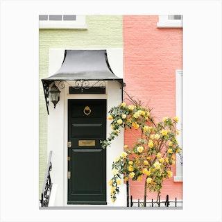 Peach Lime London Cottage Canvas Print