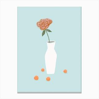 Minimalist Vase Flower Canvas Print