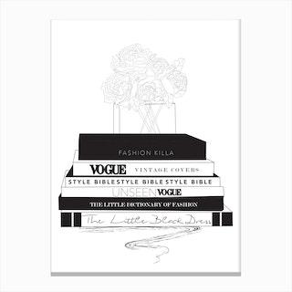 Fashion Books Canvas Print