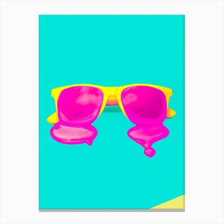 Melting Sunglasses Canvas Print