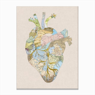 A Traveller's Heart in Canvas Print