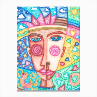 Blue Sky In Boys Eyes Canvas Print