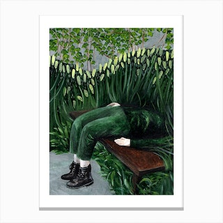 Buried In Green Beauty Canvas Print