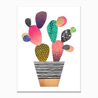 Happy Cactus Canvas Print