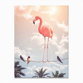 Flamingo & Friends Canvas Print