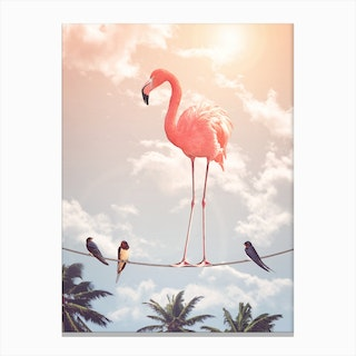 Flamingo & Friends Canvas Print