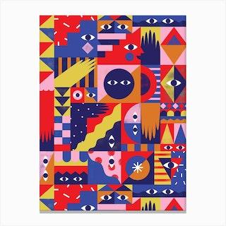 Happy Quilt Canvas Print