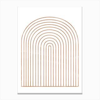 Geometric Arches Canvas Print