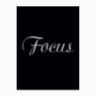 Focus Canvas Print