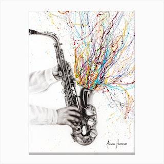 The Jazz Saxophone Canvas Print