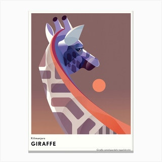 Kilimanjaro Giraffe Canvas Print