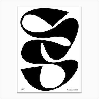 Black Vein Canvas Print