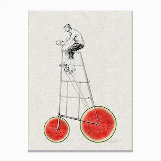 Melon Bike Canvas Print