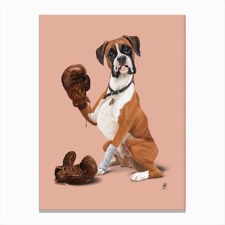 The Boxer (Colour) Canvas Print