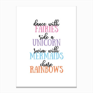 dance with fairies Canvas Print