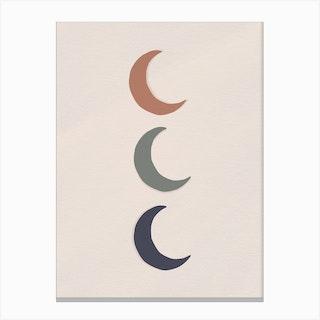 Triple Moon Canvas Print