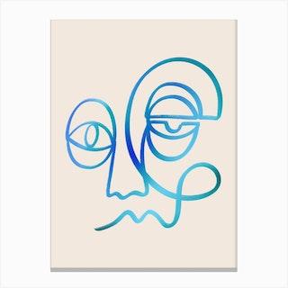 Blue Feeling Canvas Print