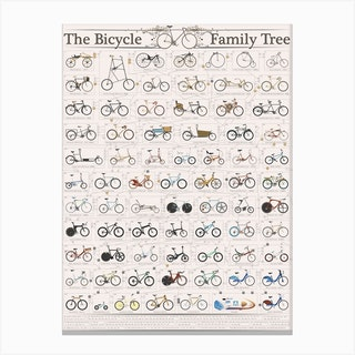 Bicycle Family Tree Canvas Print