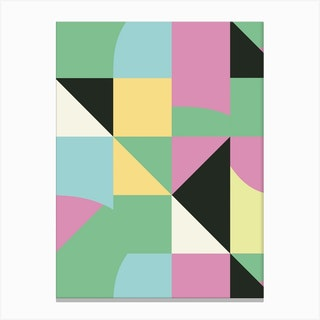 Irregular Modern Triangles Canvas Print