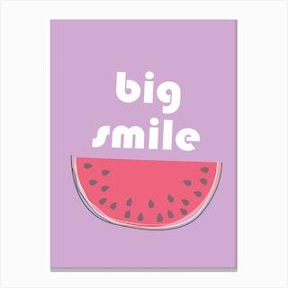 Big Watermelon Smile Canvas Print