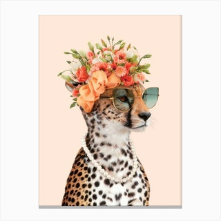Royal Cheetah Canvas Print