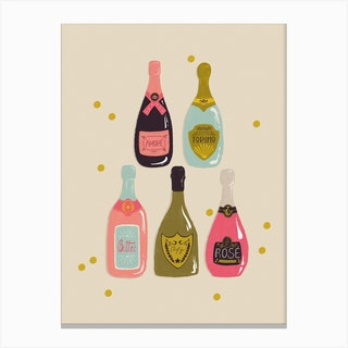 Champagne Cheers Canvas Print