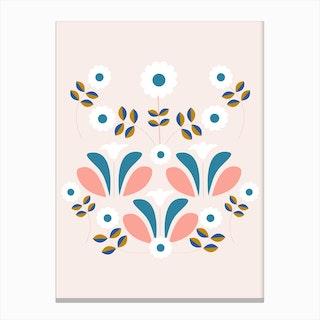 Retro Beautiful Flower Composition Canvas Print