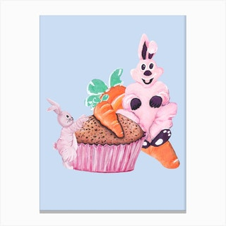 Sweet Easter Carrot Muffin Canvas Print