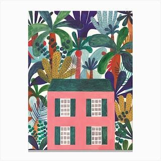 Jungle House Canvas Print