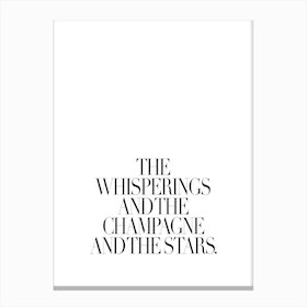 The Whisperings Canvas Print