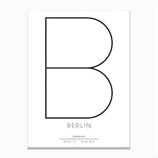Minimal Berlin Canvas Print