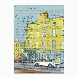 Edinburgh Antique Shop Canvas Print
