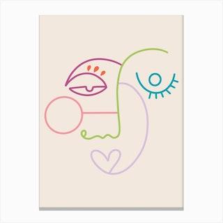 Line X Line Canvas Print