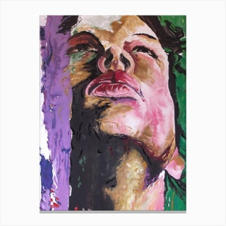 Woman'S Face Canvas Print
