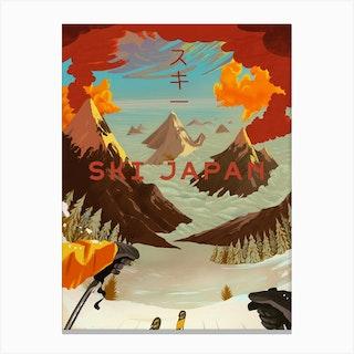 Ski Japan Canvas Print