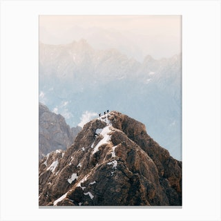 3 Mountain Hikers Canvas Print
