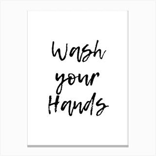 Wash Your Hands Rustic Canvas Print