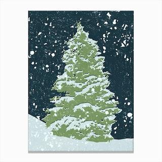 Tree by Night Canvas Print