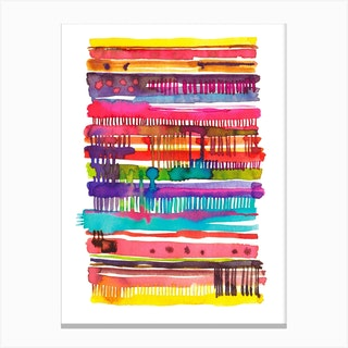 Irregular Watercolor Lines Canvas Print