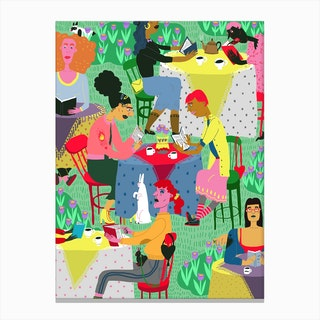 Spring Reading Club Canvas Print