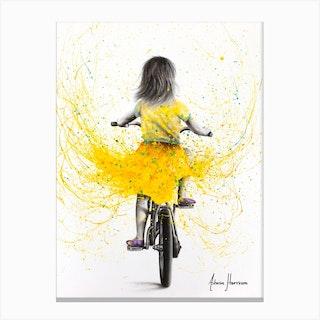 Beach Daisy Ride Canvas Print