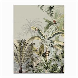 Dreamy Jungle Dark Canvas Print