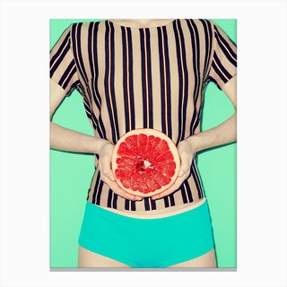 Ruby Grapefruit Canvas Print