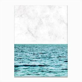 Ocean Marble II In Canvas Print